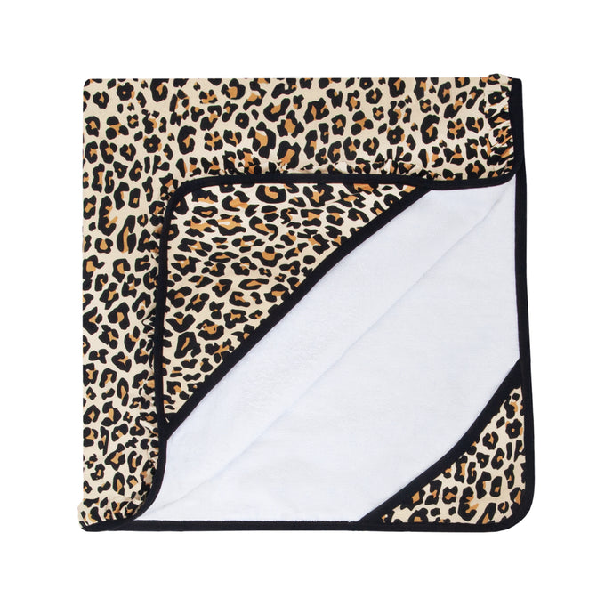 Posh Peanut - Lana Leopard Tan - Ruffled Hooded Towel
