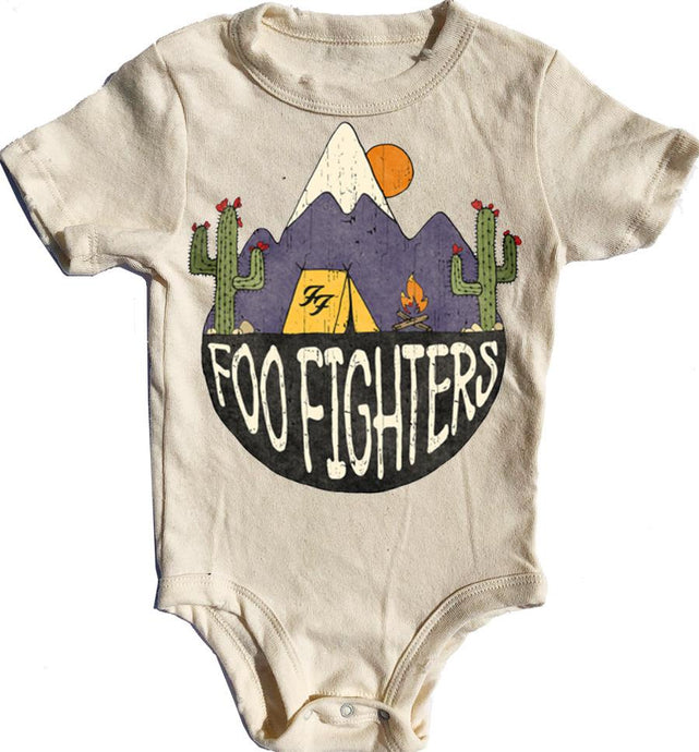 Rowdy Sprout - Foo Fighters Simple Onesie - Cream Soda