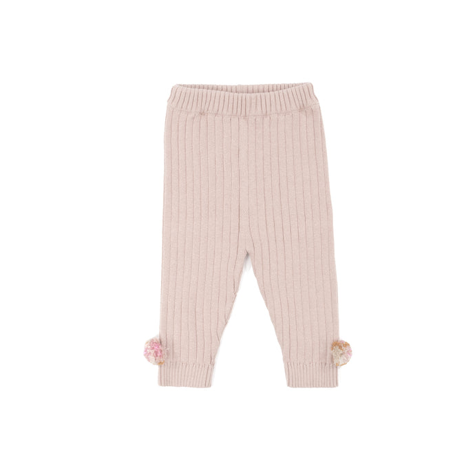 Knitted Legging - Old Rose