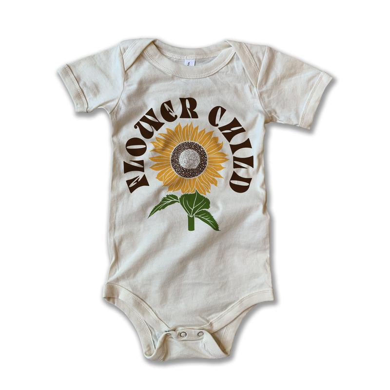 Rivet Apparel Co. - Flower Child Onesie - Natural