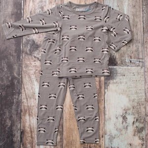 Raccoon Pajamas - Grey
