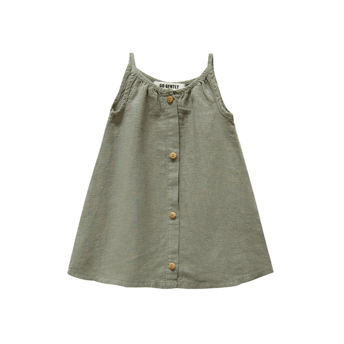 Go Gently Nation - Placket Sundress - Thyme