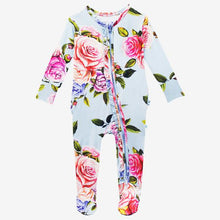 Load image into Gallery viewer, Country Rose - Footie Ruffled Zippered One Piece