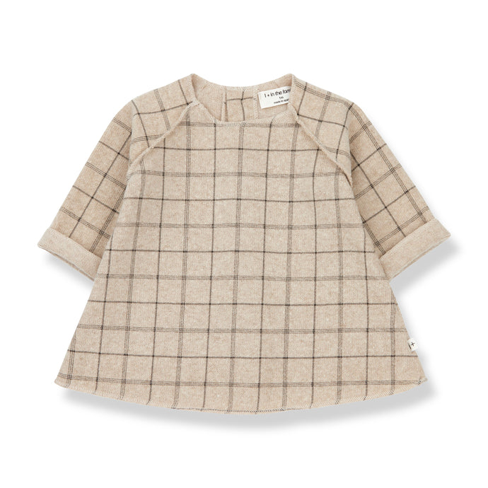 1 + in the family - Ivette Plaid Dress - Cream