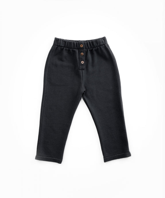 PLay Up - Organic Cotton Trousers in Jersey Stitch - Rasp