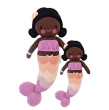 Load image into Gallery viewer, Cuddle + Kind - Maya the Mermaid  Hand Knit Doll - Little 13""