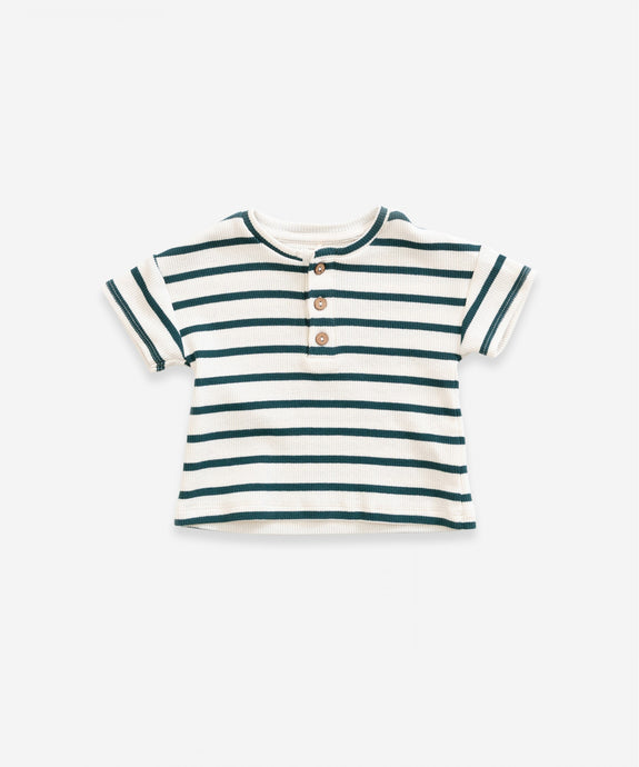 Play Up - Organic Ribbed Striped Tee