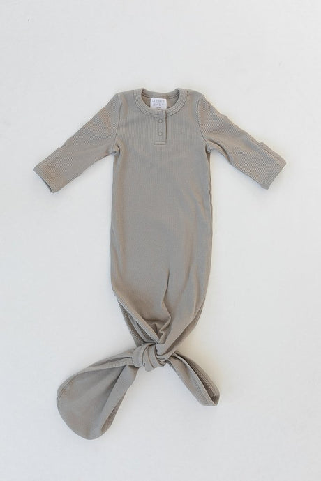 Mebie Baby - Sagebrush Organic Cotton Ribbed Knot Gown