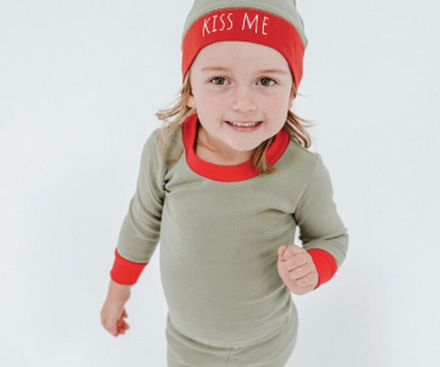 L'ovedbaby Organic Holiday Kids Long Sleeve Set