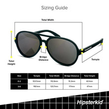 Load image into Gallery viewer, Hipsterkid FCTRY - Aviator Black Polarized Sunglasses - 3Y - 6Y