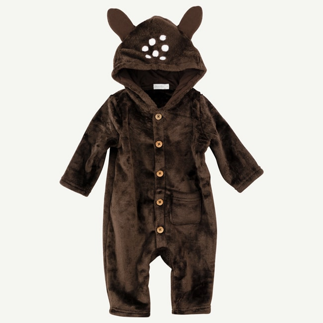 Oliver & Rain Brown Deer Hooded Jumpsuit