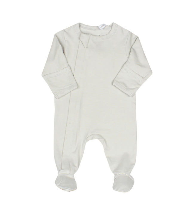 Cocolli - Zipper Modal Footie - Glacier Grey
