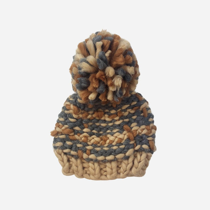 The Blueberry Hill - Charlie Plaid Knit Hat - Latte