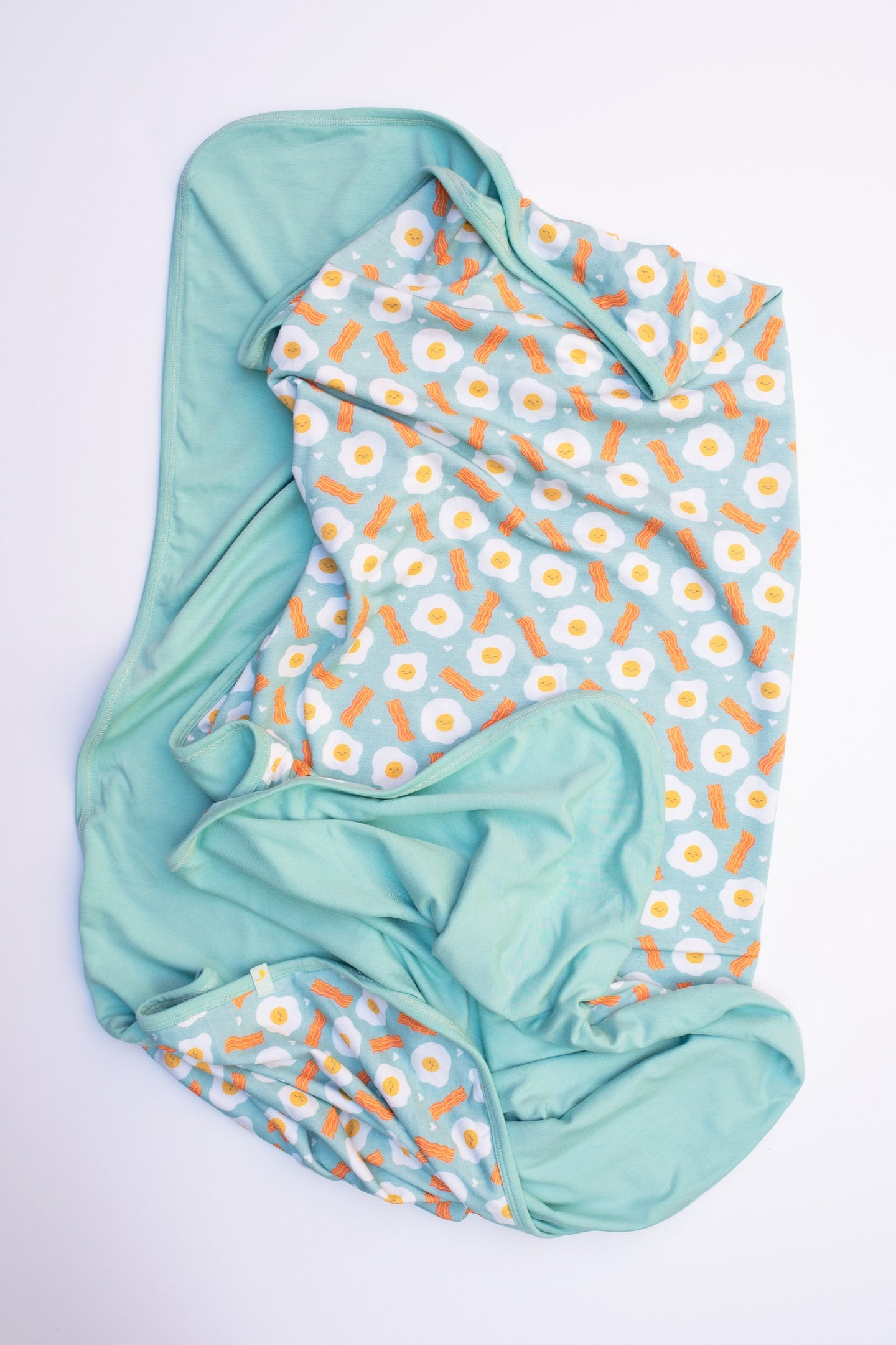 Clover - Bamboo Swaddle Blanket Bacon and Eggs