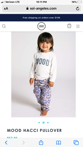Sol Angeles Mood Pullover Infant