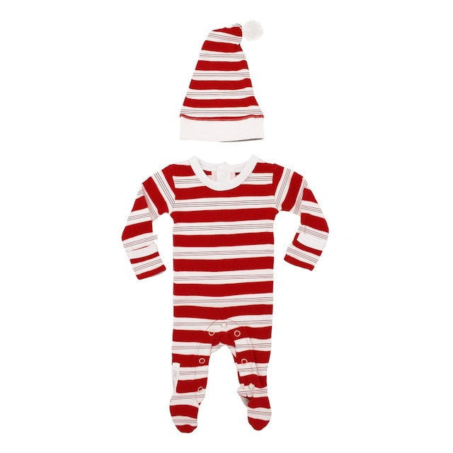 L'ovedbaby Organic Overall & Cap Set - Peppermint Stripe