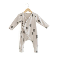 Load image into Gallery viewer, Haven Kids Bamboo Kimono Romper - Trees