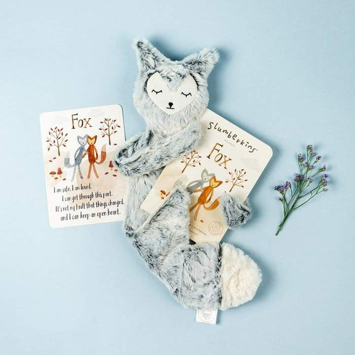 Slumberkins - Fox Snuggler w/ Book - Silver