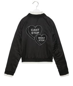 Spiritual Gangster - Can't Stop Girl's Satin Reversible Jacket
