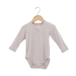 Haven Kids Bamboo Henley Onesie - Fog