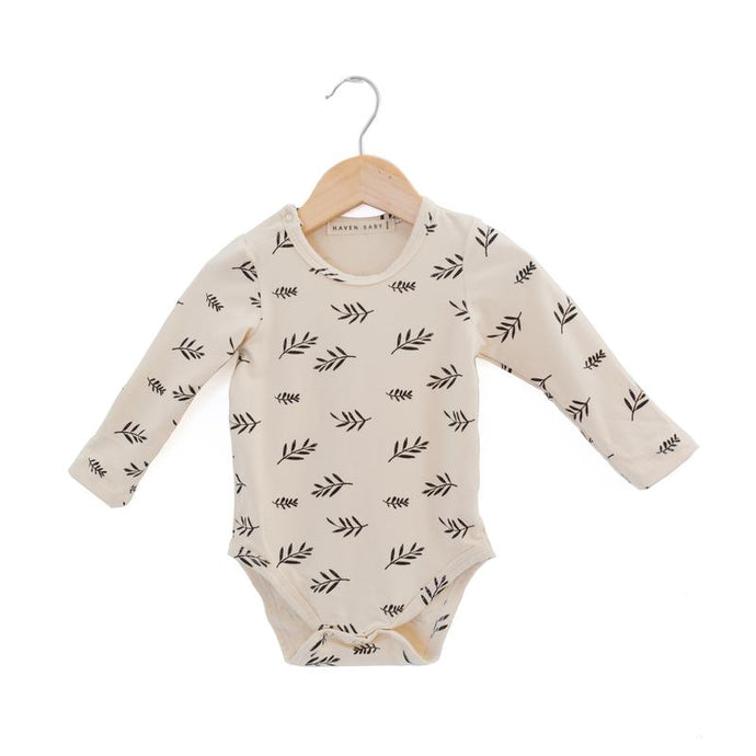 Haven Kids Bamboo Crew Neck Onesie - Sprigs
