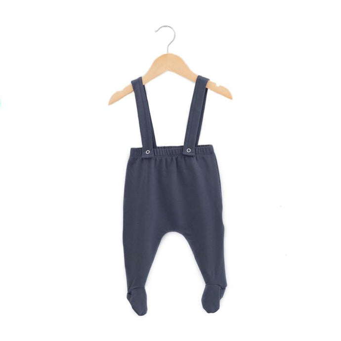 Haven Kids Bamboo Footie Suspender Pants - Eclipse