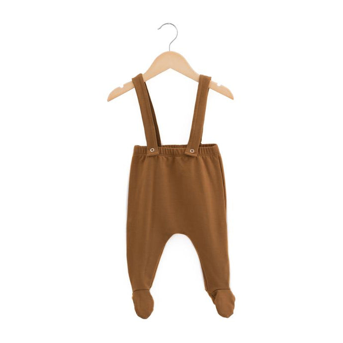 Havens Kids Bamboo Footie Suspender Pants - Hazelnut