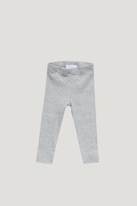 Organic Cotton Modal Legging - Light Grey Marle