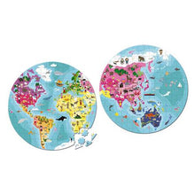 Load image into Gallery viewer, Janod - Hat Boxed Double Sided Puzzle - Our Beautiful Planet