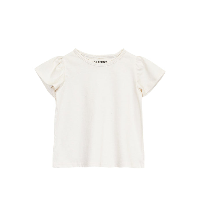 Go Gently Nation - Organic Jersey Flutter Tee - Natural