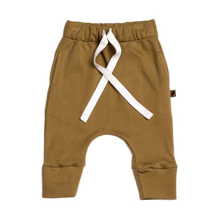 Kidwild Organics Organic Drawstring Pants - Curry