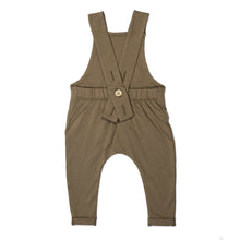 Load image into Gallery viewer, Kid Wild Organic Overalls Mocha Curry