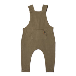 Kid Wild Organic Overalls Mocha Curry