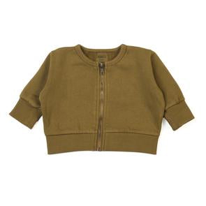 Kid Wild Organic Vintage Zip Sweatshirt Curry