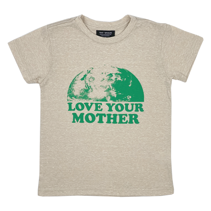 Tiny Whales - Love Your Mother Short Sleeve Tee - Tri Sand