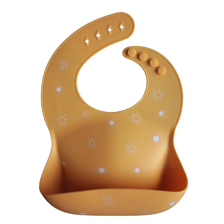 Mushie Silicone Baby Bib - Sun Orange