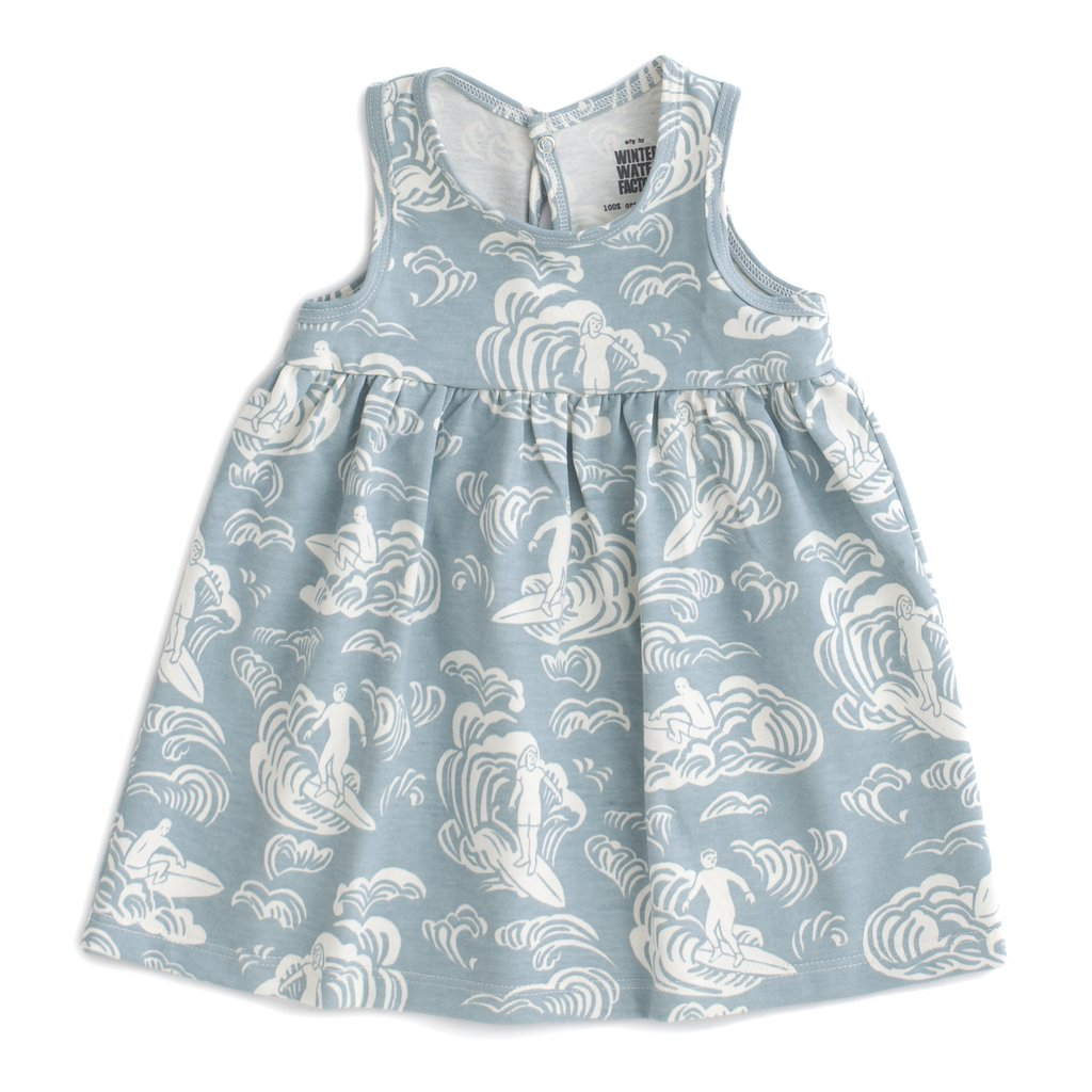 Winter Water Factory Organic Oslo Baby Dress - Surfers