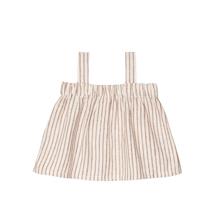 Go Gently Nation - Organic Paperbag Top - Hazelnut Stripe