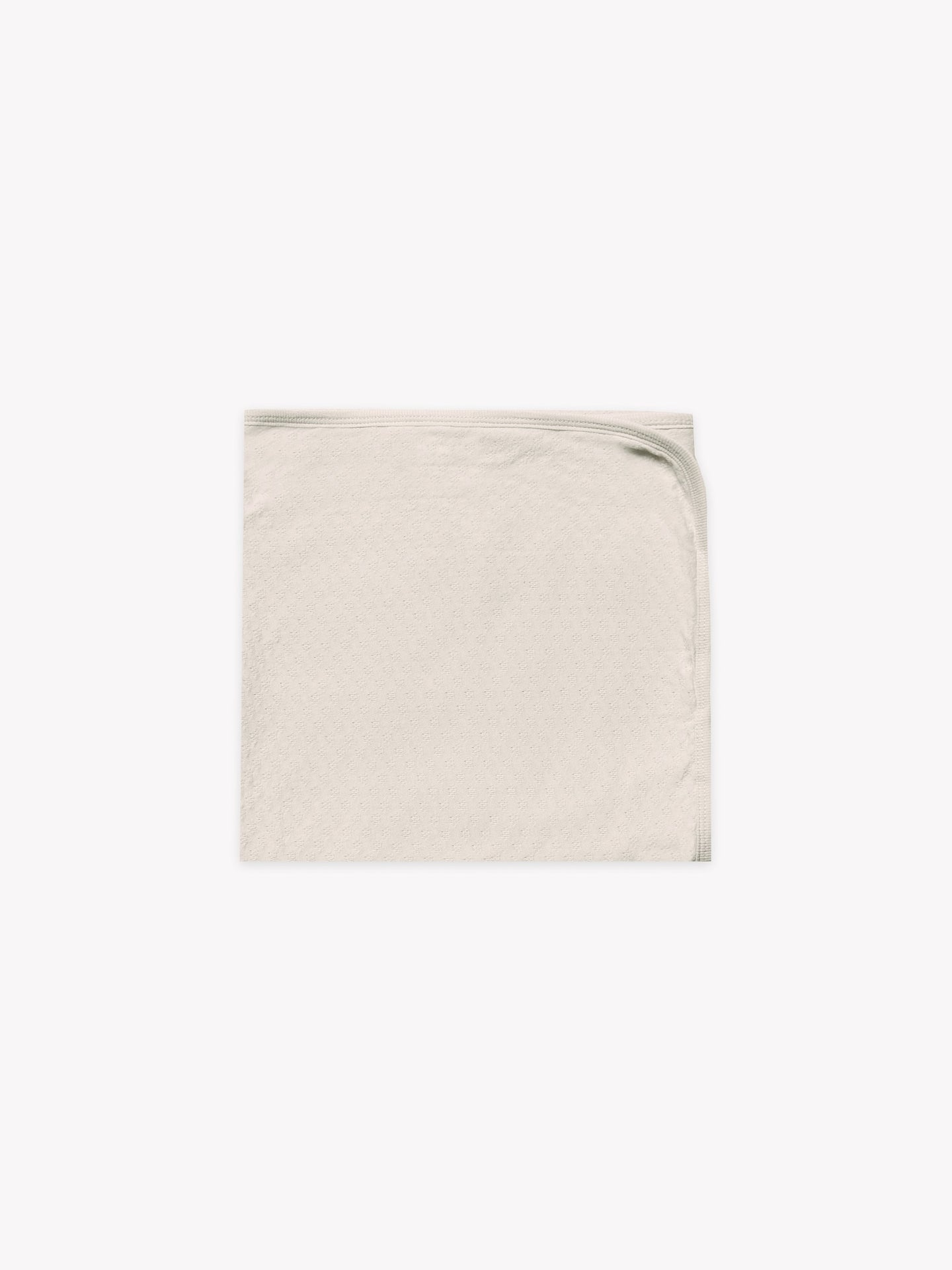 Quincy Mae - Organic Pointelle Baby Blanket - Pebble
