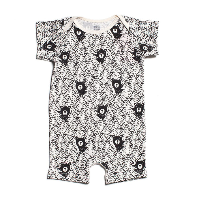 Winter Water Factory Organic Summer Romper - Bears