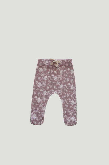 Jamie Kay Organic Cotton Footed Pant - Fawn Floral