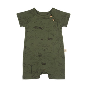 Red Caribou Organic Short Sleeve Jumpsuit - The Story