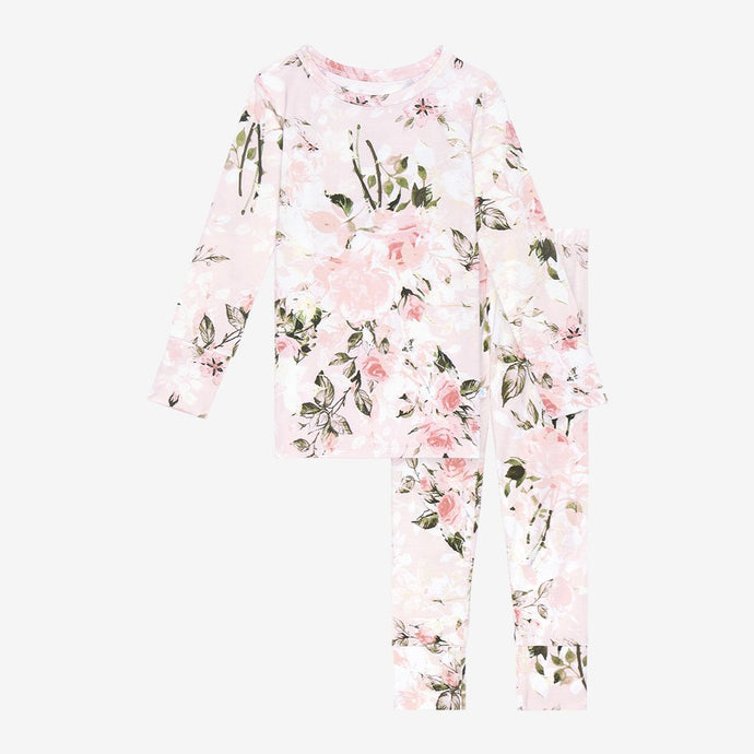 Posh Peanut - Vintage Pink Rose - Long Sleeve Pajamas