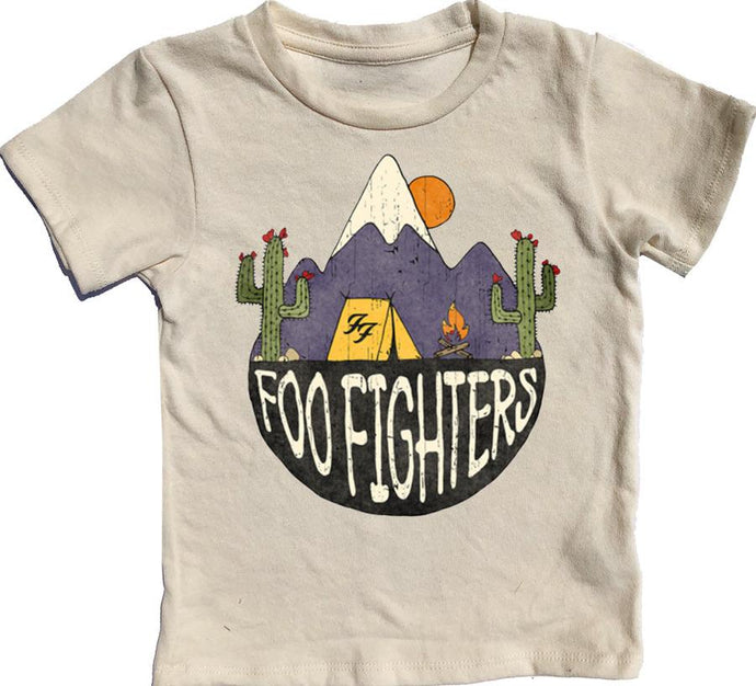 Rowdy Sprout - Foo Fighters Simple Tee - Cream Soda