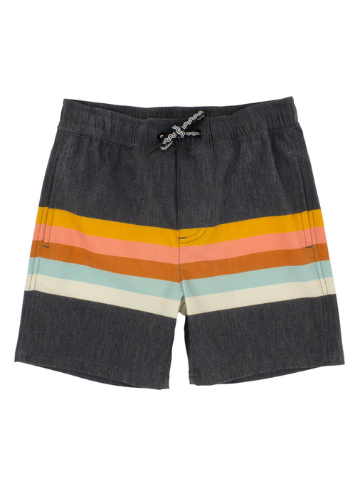 Vintage Stripe Boardshort - Washed Black