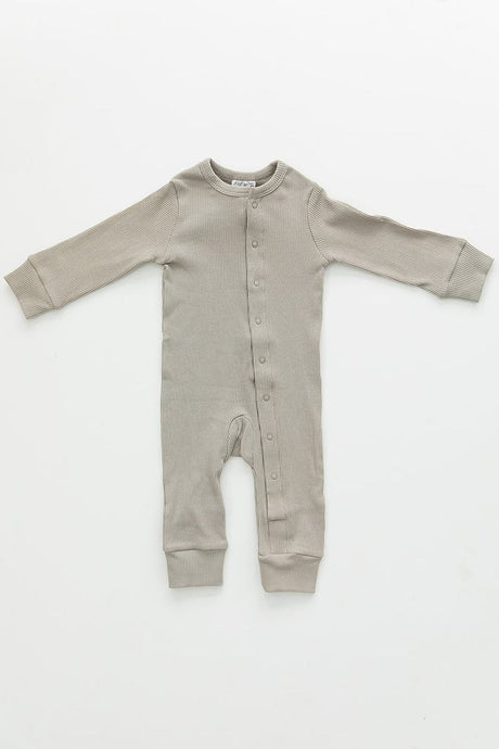 Mebie Baby - Sagebrush Organic Cotton Ribbed Footless One-Piece