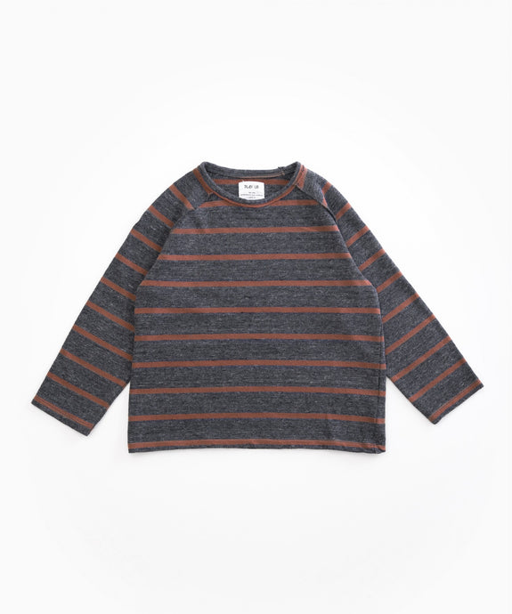 Play Up - Striped Jersey Long Sleeve - Rasp