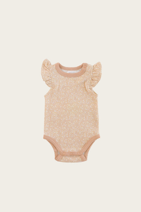 Jamie Kay - Organic Cotton Frill Singlet Bodysuit - Meadow Floral
