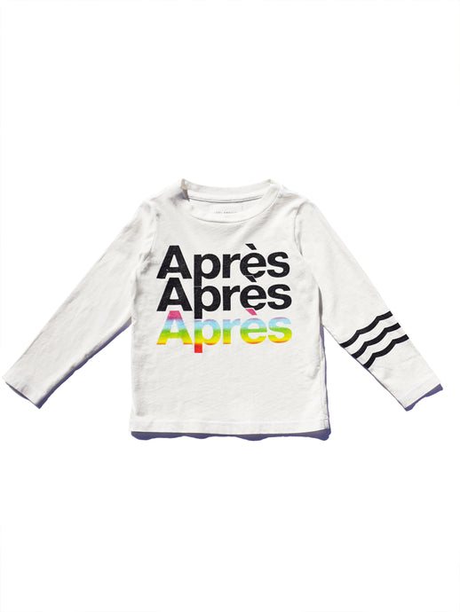 Sol Angeles - Apres Long Sleeve Crew White/Rainbow