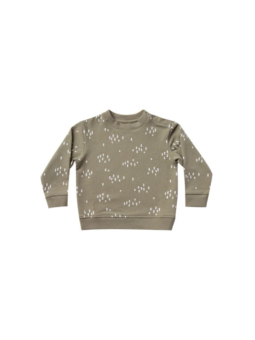 Quincy Mae - Organic Fleece Basic Sweatshirt - Olive